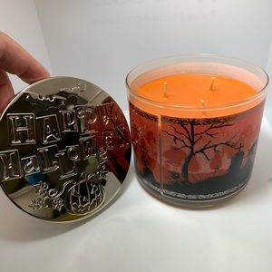 PURRFECT PUMPKIN  Candle Halloween 3 Wick SCENTED